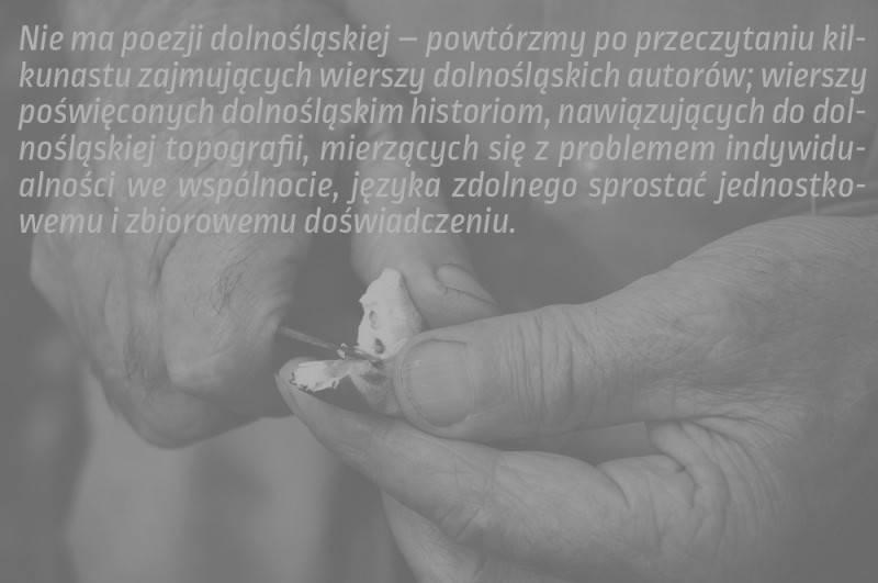 Poezja Na Dolnym śląsku W Latach 1989 2009 Dolnośląskość